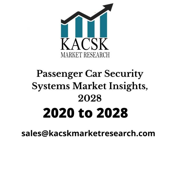 Passenger Car Security Systems Market Insights, 2028