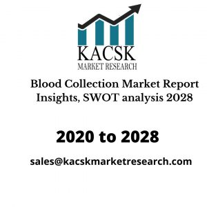 Blood Collection Market Report Insights, SWOT analysis 2028