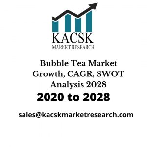 Bubble Tea Market Growth, CAGR, SWOT Analysis 2028