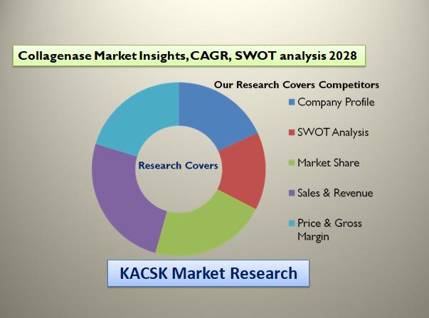 Collagenase Market Insights, CAGR, SWOT analysis 2028