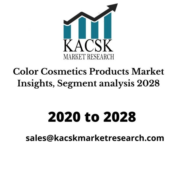 Color Cosmetics Products Market Insights, Segment analysis 2028