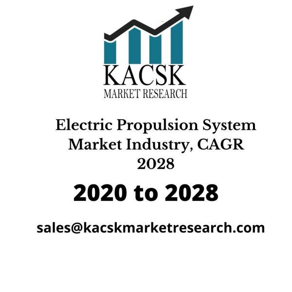 Electric Propulsion System Market Industry, CAGR 2028