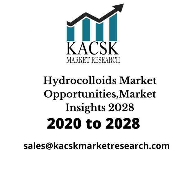 Hydrocolloids Market Opportunities,Market Insights 2028