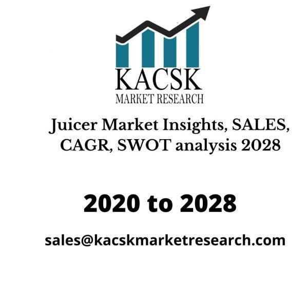 Juicer Market Insights, SALES, CAGR, SWOT analysis 2028