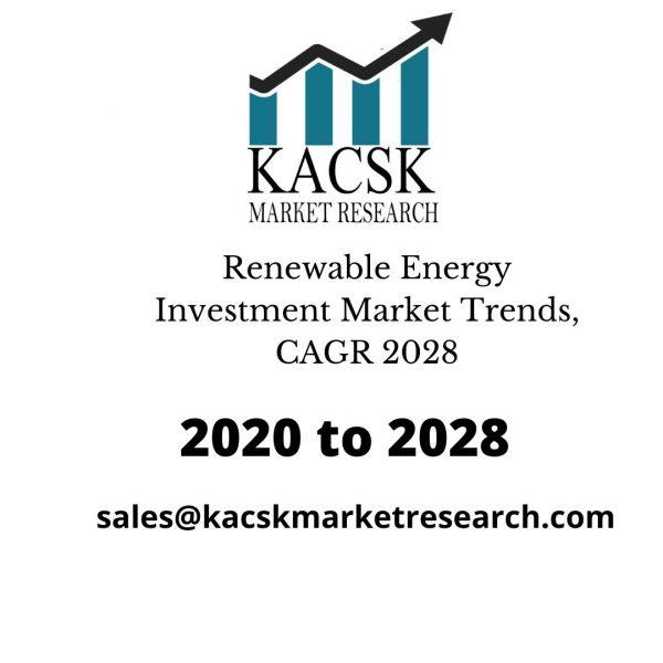 Renewable Energy Investment Market Trends, CAGR 2028