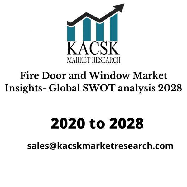 Fire Door and Window Market Insights- Global SWOT analysis 2028