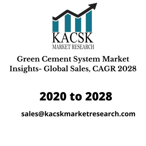 Green Cement System Market Insights- Global Sales, CAGR 2028