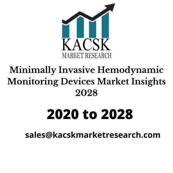 Minimally Invasive Hemodynamic Monitoring Devices Market Insights 2028