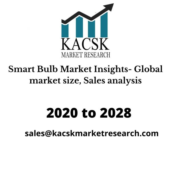 Smart Bulb Market Insights- Global market size, Sales analysis