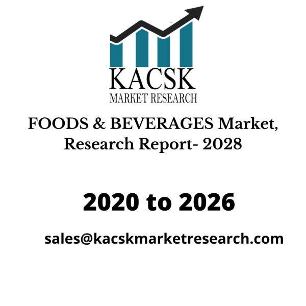 FOODS & BEVERAGES Market, Research Report- 2028
